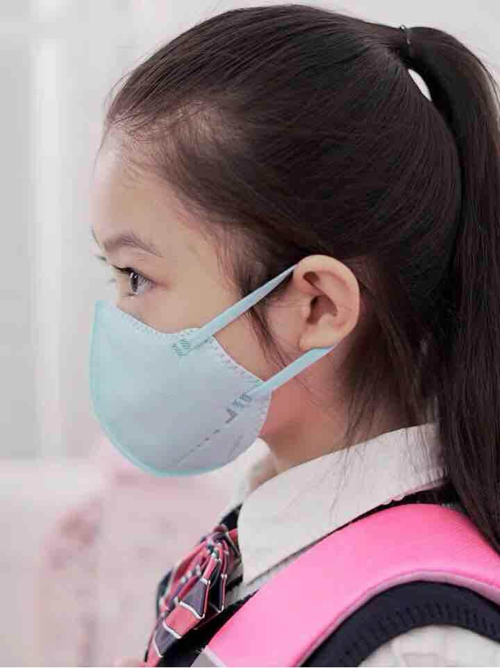 Xiaomi Mijia Airpop สำหรับเด็ก (สีฟ้า) หน้ากากอนามัยมีวาล์ว ป้องกันฝุ่นละอองขนาดเล็ก Pm2.5 พร้อมส่ง By The Mask Detector.