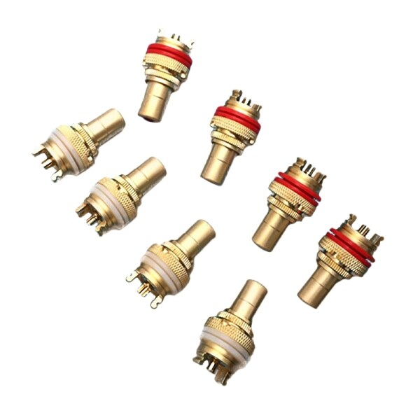 8pcs Red+White RCA Female Socket Chassis High Quality RCA CMC Female Connector Phono Copper Plug Amp HiFi
