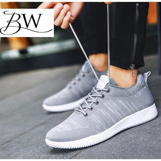 BW รองเท้าผ้าใบผู้ชาย สไตล์ สปอร์ต นุ่มสบาย เรียบหรู ดูดี