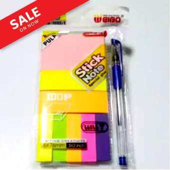 Stick Note เซ็ทกระดาษโน้ตกาวในตัว หลากหลายแบบใน 1 เซ็ท แถมปากกาลูกลื่น