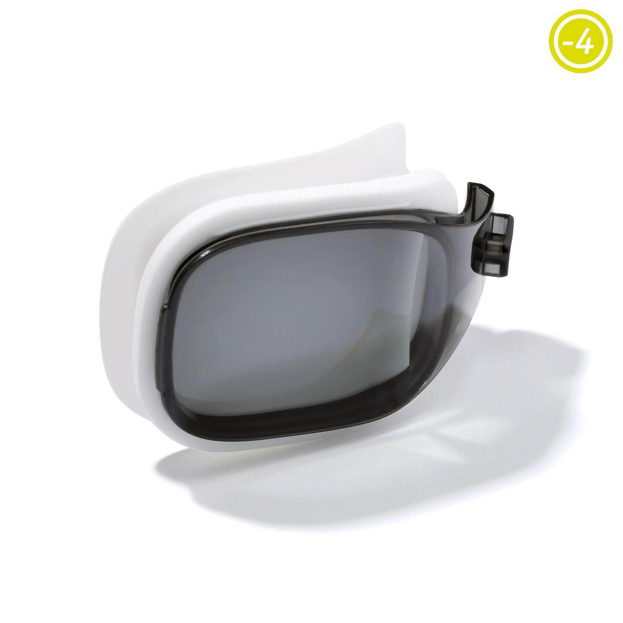 [ราคาถูกอย่างแรง แซงทุกโปร!!!]เลนส์ปรับสายตาสำหรับแว่นตาว่ายน้ำ รุ่น SELFIT ขนาด L (สี SMOKE) สายตาสั้น -4