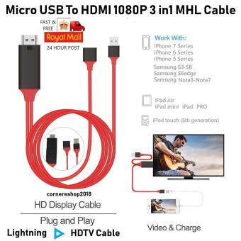 HDTV CABLE USB Female to HDMI Cable Display Dongle 1080P Airplay Mirroring  Plug and Play Same Screen USB Power for iOS9/10/11 Android 4 4ขึ้นไป