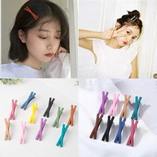 Korean Version of Simple Hairpin Girl Heart Candy-colored Bangs Clip Hairpin thumbnail