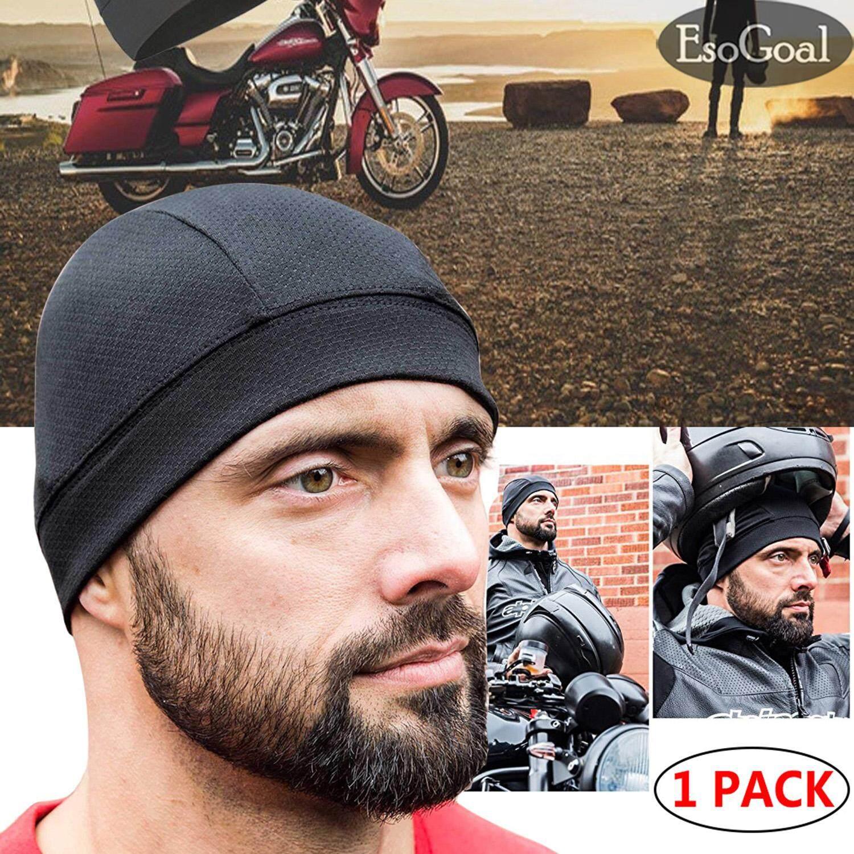Esogoal หมวกผ้าพันศีรษะที่รัดศีรษะรถจักรยานยนต์ Under Helmet Liner Motorcycle Head Cover Skull Cap Quick Dry Breathable Racing Hat Helmet Inner Wear By Esogoal.