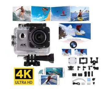 CK SHOP กล้องกันน้ำ กล้องติดหมวก Action Camera 4K ULTRA HD WIFI-