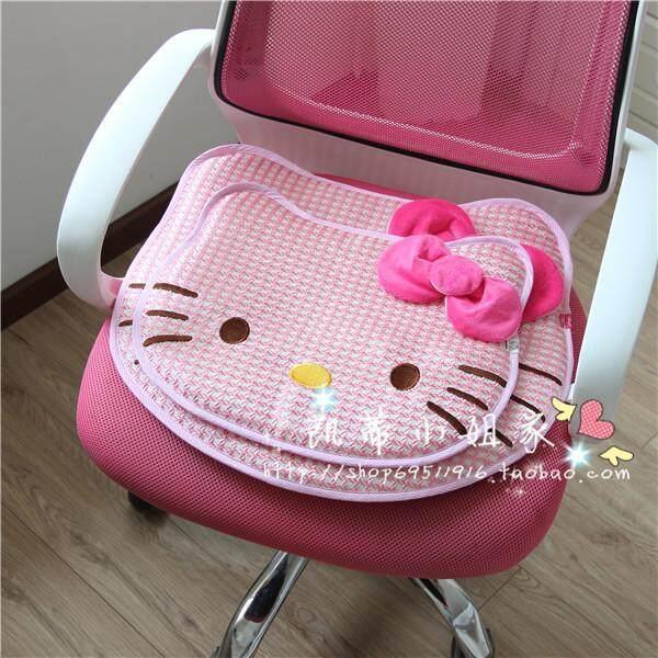Hello Kitty Cartoon Cushion Children Students Office Car Seat Cushion Flax Monolithic Four Seasons