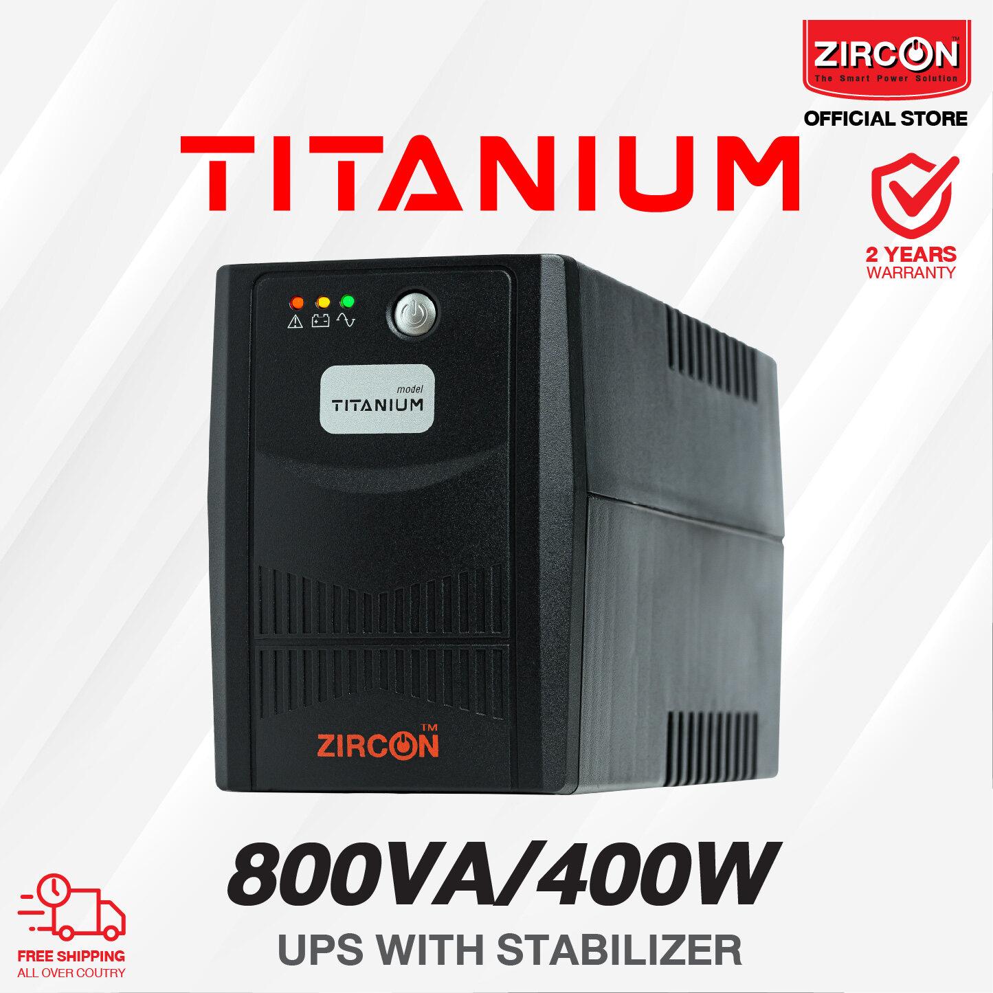 Zircon เครื่องสำรองไฟ (ups) รุ่น Titanium 800va/400w รับประกัน 2ปี เครื่องมีปัญหาเปลียนตัวใหม่ภายใน 7วัน.