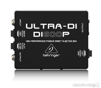 Behringer : ULTRA-DI DI600P ( DI Box แบบ Passive เหมาะสำหรับเชื่อมต่อ กีตาร์ , เบส หรือ คีย์บอร์ด ตรงเข้าสู่ Mixer )-