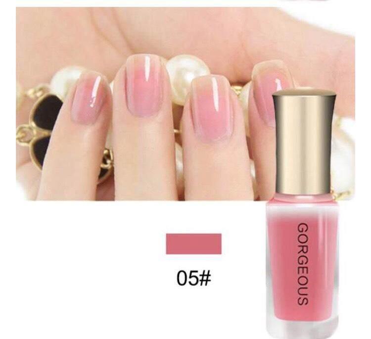 ยาทาเล็บกึ่งเจล Gorgeous 05สีชมพูเข้มสวยสดใส ของแท้100% By Maprang Beautyshop.