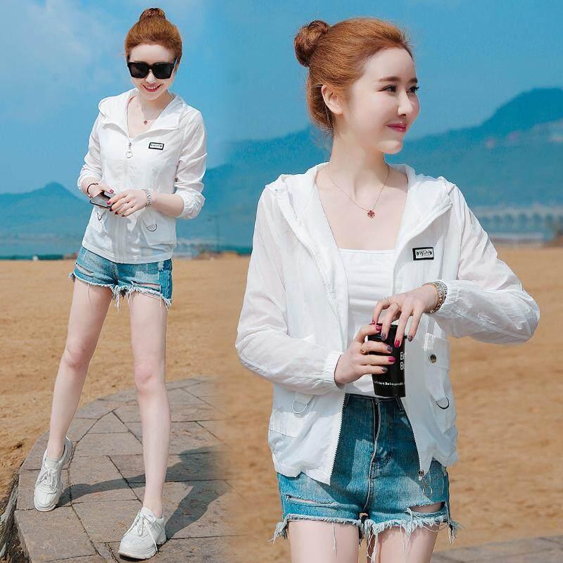 984b1ed588a Sun Protection Clothing women 2019 New Style Ultra-Thin Summer Korean Style  Hooded Ride Sun