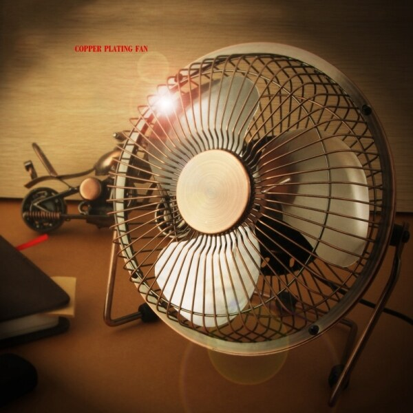 Bảng giá Air Conditioning Mini USB Table Desktop Personal Fan Metal Design Antique Quiet Operation 3.9 Feet USB Cable High Compatibility Phong Vũ