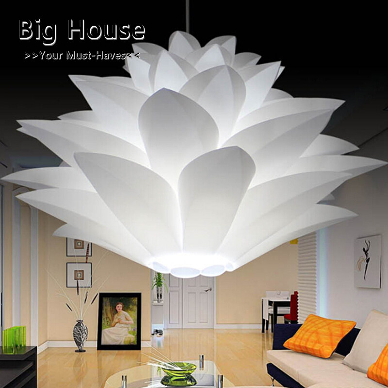 Big House DIY Lotus Chandelier Lampshade Beautiful Decoration Romantic Lighting Cover
