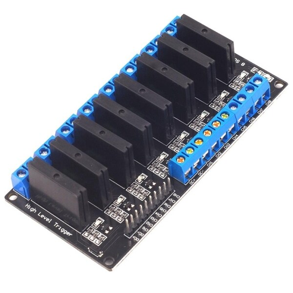 Bảng giá 5V 8 Channel Solid State Relay Module with Resistive Fuse Low Level Trigger for Arduino Phong Vũ
