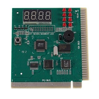 PC Motherboard Diagnostic Card 4-Digit PCI ISA POST Code Analyzer thumbnail