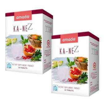 Amado KA-NE Plus Zinc อมาโด้กาเน่ กลูต้าเม็ดฟู่ผสมน้ำ 2 กล่อง