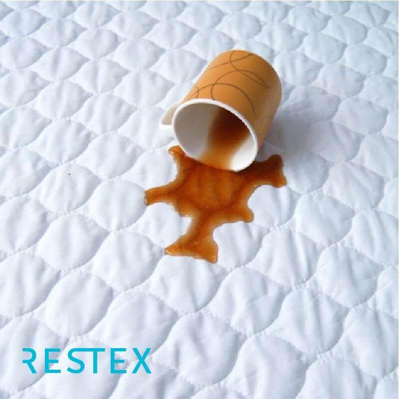 Restex ผ้ารองกันเปื้อนชนิดกันน้ำ คุณภาพโรงแรม 5 ดาว ขนาดที่นอน 3.5 ฟุต  ใย Hollow Filled กันไรฝุ่น พร้อมยางรัดมุม.