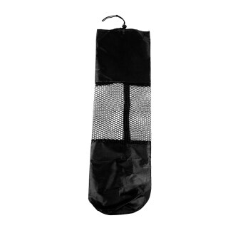 Portable Mesh Center Black Pilates Mat Bag Carrier for Yoga thumbnail