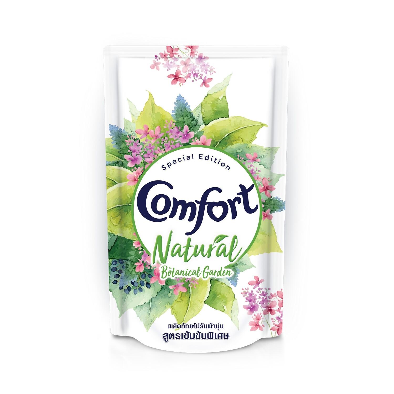 Comfort คอมฟอร์ท เนเชอรัล น้ำยาปรับผ้านุ่ม สีเขียว 580 มล. Comfort Natural Fabric Softener Green 580 Ml..