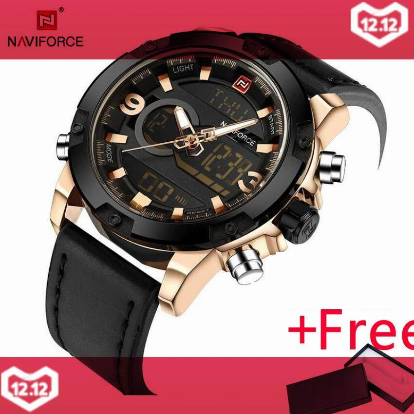 NAVIFORCE TOP Merek Mewah Pria QUARTZ Digital Watch Jam Tangan Es Men  Fashion Olahraga Jam Man 7649b12839