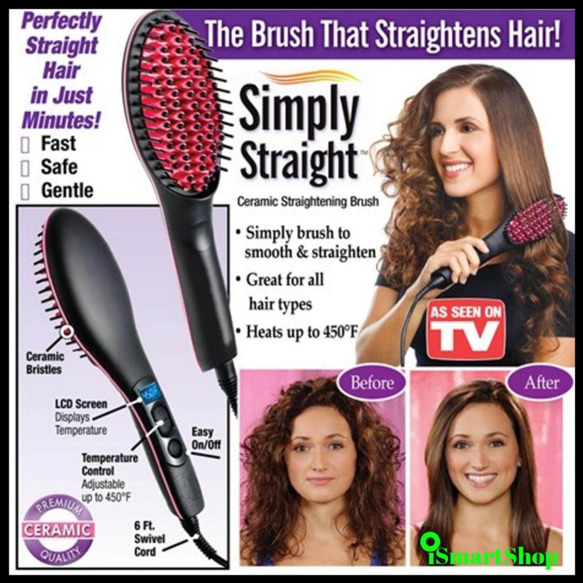 Electric Hair Stretcher Comb หวีไฟฟ้ายืดผมตรงด้วยความร้อน.