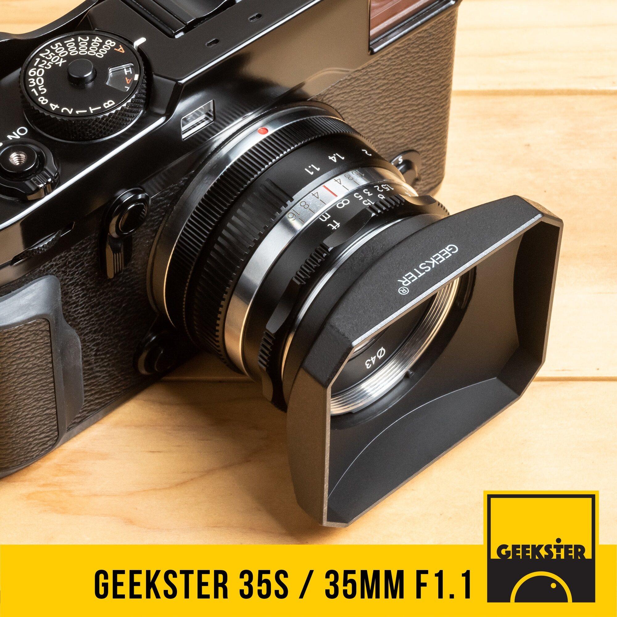 มาแรงใหม่ล่าสุด Geekster 35 Mm F1.1 / 35s ⭐️ ละลายสุดๆ ภาพคมชัด สำหรับกล้อง Mirrorless ( Fuji / Olympus / Sony / Panasonic / Canon / Tl / Sl / Cl ) ( เลนส์หลังละลาย ) ( เลนส์มือหมุน ) ( เลนส์ หน้าชัดหลังเบลอ ) ( สำหรับ กล้อง Mirrorless ) ( 35mm 1.1 ).
