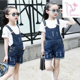 แนะนำ ชุดเอี้ยมยีนส์เด็ก ขาสั้น อายุเด็ก 8-10 ปี size 150 (ไม่รวมเสื้อ)