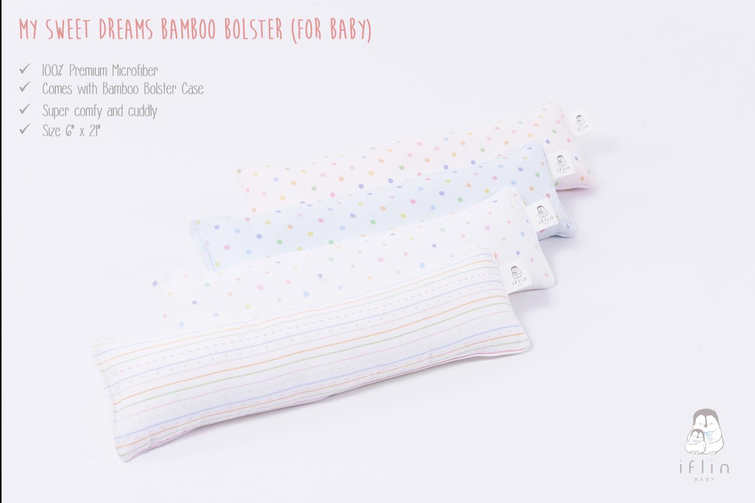 รีวิว Iflin Baby - หมอนข้างMicrofiber + ปลอกหมอนข้างใยไผ่ สำหรับเด็กแรกเกิด (My Sweet Dreams Bamboo Bolster - for Baby) - ของใช้เด็กอ่อน