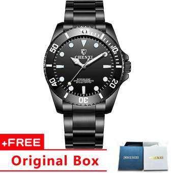 Jam Tangan Lelaki สีดำสแตนเลสผู้ชายนาฬิกาธุรกิจแฟชั่นหรูนาฬิกาควอตซ์กันน้ำสำหรับผู้ชาย