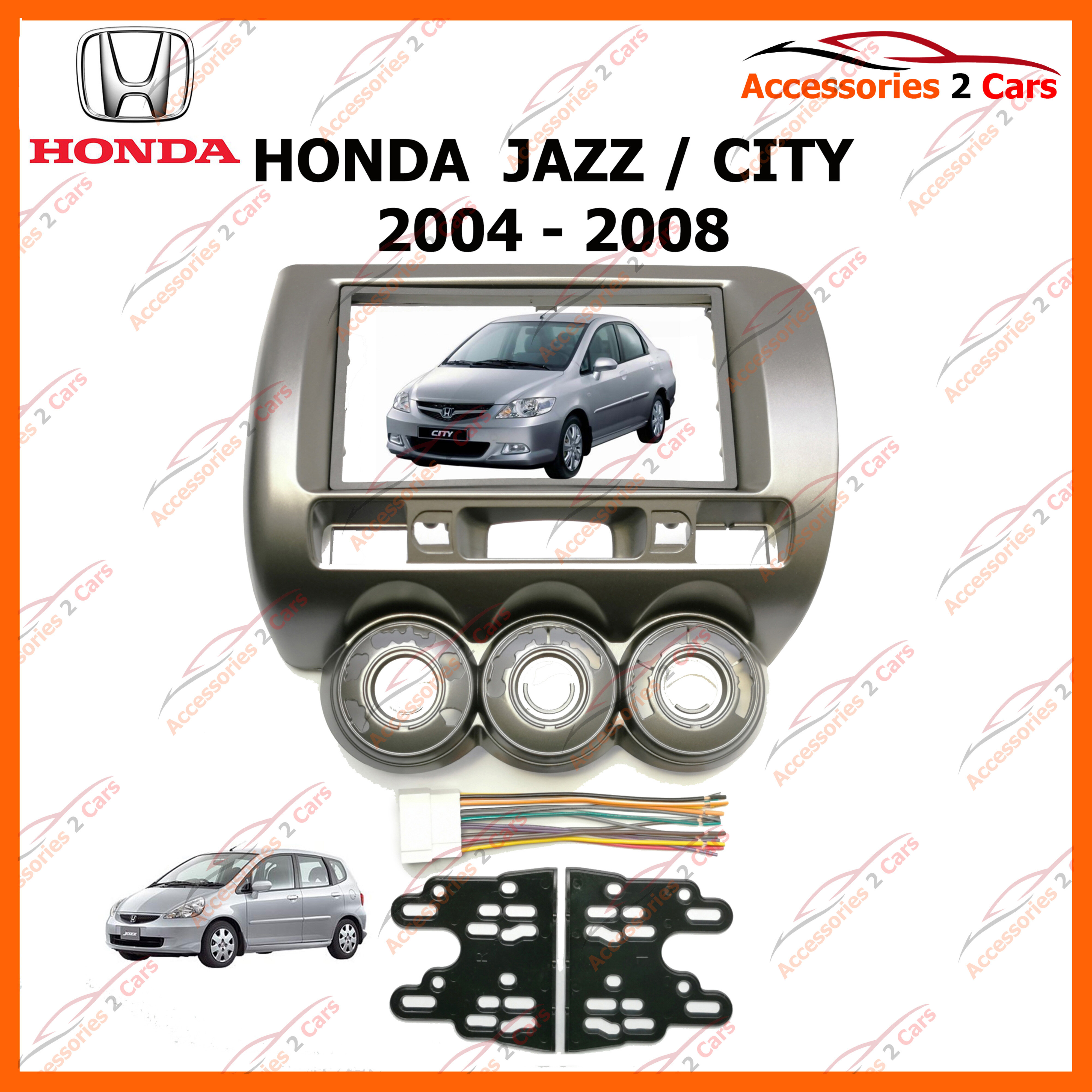 หน้ากากวิทยุรถยนต์ HONDA JAZZ / FIT / CITY RHD สำหรับจอ 7 นิ้ว(NV-HO-031)