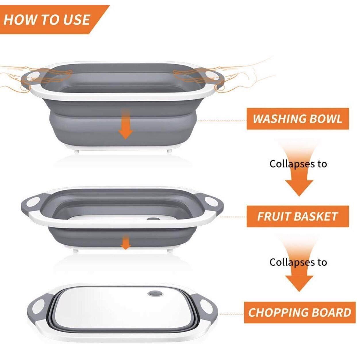 Image 5 for Puket Store กะละมังพับได้ เขียงพับได้ กะละมังล้างผักผลไม้  เขียงซิลิโคนพับเก็บได้  กะละมังซิลิโคนพับเก็บได้
