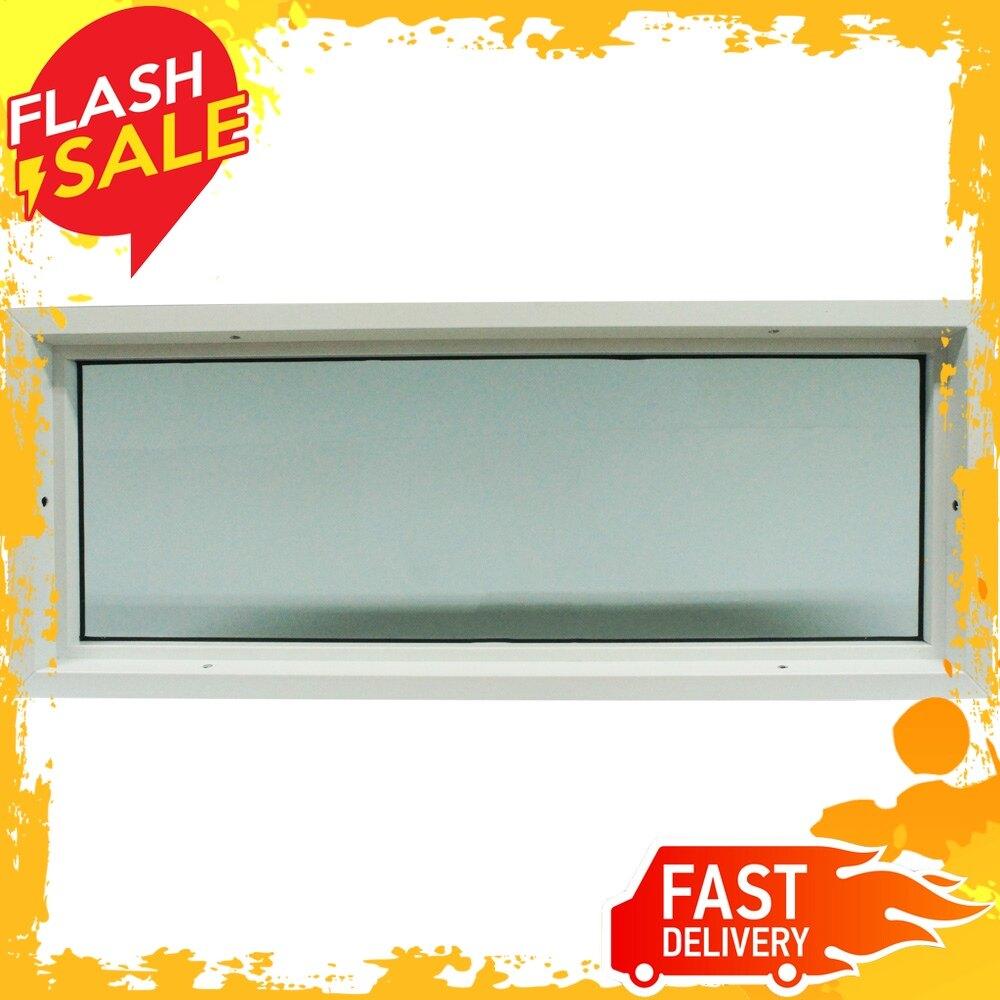 ⚡sale⚡ หน้าต่างช่องแสง Upvc Hf 100x40 ซม. สีขาว อุปกรณ์เสริมประตูหน้าต่าง อุปกรณ์ประตู Door & Window Accessories โปรโมชั่น ส่งเร็ว!!!.