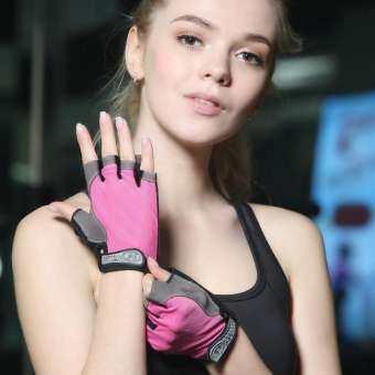 FOSHAN ถุงมือฟิตเนส ถุงมือออกกำลังกาย ถุงมือยกน้ำหนัก Weight Lifting Gloves Black Riding glove Bodybuilding Fitness Glove