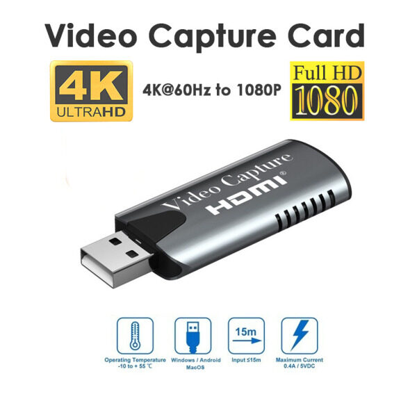 Bảng giá HD 1080P Ghi Video Quay Video 4K 60Hz Bộ Chuyển Đổi Dây Cáp Chuyển Đổi Video Bộ Sưu Tập Thẻ Thẻ Chụp Phong Vũ
