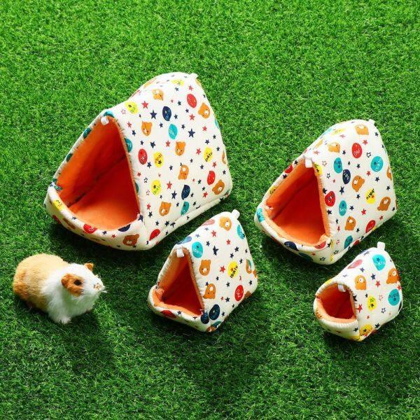 LISASA Con thỏ Thoải mái Lồng mini Sóc Mat ấm Thú vật Hamster House Giường ngủ Phụ kiện thú cưng Guinea Pig Nest