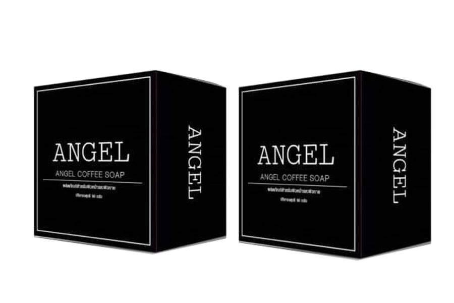 Angel Foffee Soap สบู่เเองเจิ้ล สครับผิว เผยผิวกระจ่างใส 50 กรัม 2 ก้อน