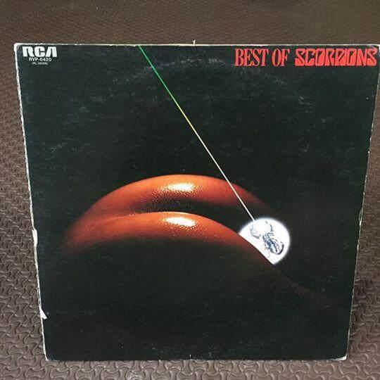 แผ่นเสียง Best Of Scorpions ปก Vg ปกขาด/แผ่น Vg++/usa By Oldism111.