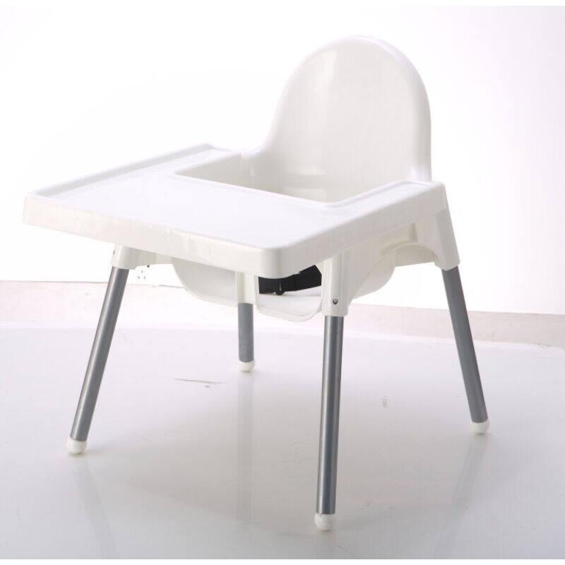 Nikkokids เก้าอี้หัดนั่งและทานข้าวสำหรับเด็ก เก้าอี้หัดนั่งปรับระดับได้ เก้าอี้ทานข้าวปรับระดับได้ สีขาว สีชมพู ขนาด 650*410*890 มม. ประกอบง่าย