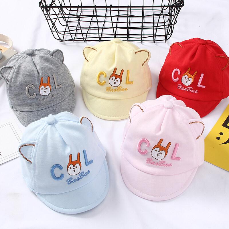 น้องกระรอก หมวกแกปเด็กอ่อน หมวกเด็กช หมวกเด็กหญิง ดีไซน์น่ารักมียางยืด ขนาด 42ซม สำหรับเด็ก 0-6เดือน M6