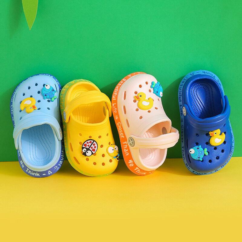 Ddx01 รองเท้าแตะรัดส้นเด็กลายการ์ตูน รองเท้าเด็ก กันลื่น.