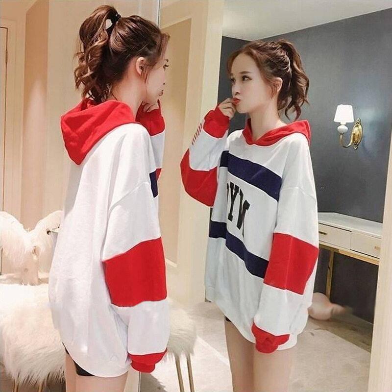 Midsummer New!! เสื้อฮู้ดแขนยาว เสื้อมีฮู้ด เสื้อยืดแฟชั่นผู้หญิง แนวหวานสดวัยรุ่นน่ารัก A331
