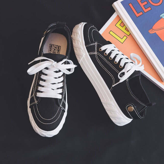 Giày nữ vải dù màu trắng nhỏ giày mẫu mới mùa hè 2020 giày vải xỏ chân lười không có gót giày xu hướng dễ phối mùa xuân giá rẻ
