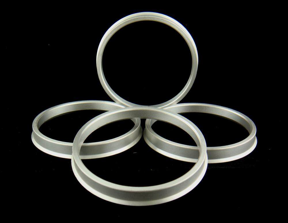 SET OF 4 ALUMINUM ALLOY HUB CENTRIC RINGS 73.1mm TO 54.1mm.