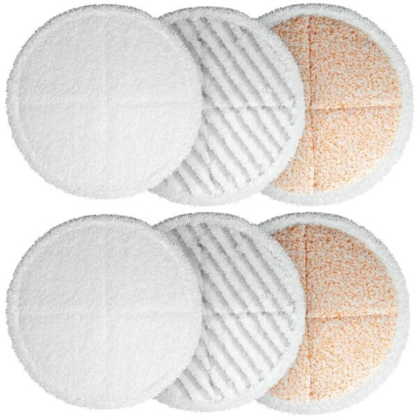 6 Pack Mop Cleaning Pad Kit Replacement Pads for Bissell Spinwave 2039A 2124