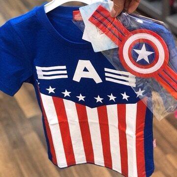 Captain America Cotton T-shirt 3-5-7-9