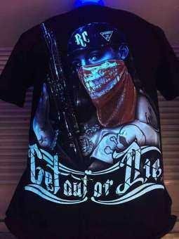 T-shirt 3Dเสื้อเรืองแสง ผู้ชาย-