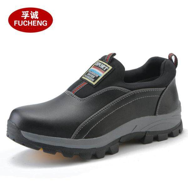 Labor Safety Shoes Mens Anti-Smashing Anti-Piercing Lightweight Anti-Odor Wear-Resistant Shoes with Steel Toe Cap for Construction Site Womens Full Cowhide Safety Shoes for Summer for Working