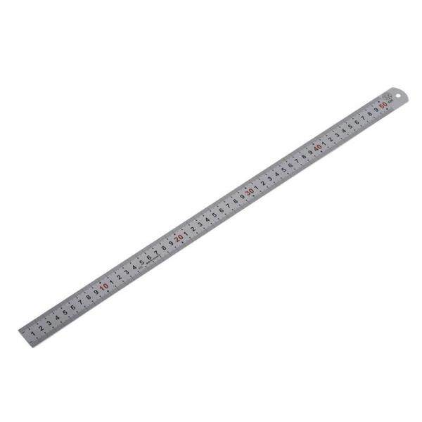 Mua Double Side Scale Stainless Steel Straight Ruler Measuring Tool 50cm