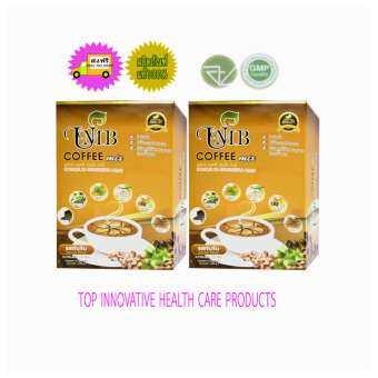 UMB Sacha Inchi Coffee Mix กาแฟถั่วดาวอินคา (ผสมถั่งเช่า) รสเข้มข้นชนิดกล่อง 12 ซอง 2 กล่อง-