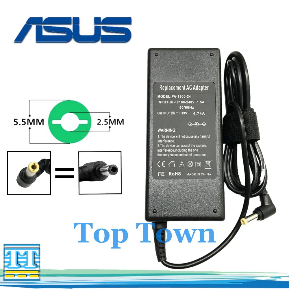 Asus Adapter Notebook Asus 19v4.74a 90w(ขนาดหัว 5.5*2.5mm หัวดำ,หัวเหลือง)อะแดปเตอร์โน๊ตบุ๊ค สายชาร์จโน๊ตบุ๊ค อแดปเตอร์ อะแดปเตอร์ สายชาร์จ สายชาร์ต สายชาร์ท.