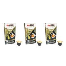 ส่วนลด Caffe Molinari Itespresso Coffee Capsules กาแฟแคปซูล รส Oro 1 แพ็คมี 3 กล่อง กล่องละ 10 แคปซูล Caffe Molinari